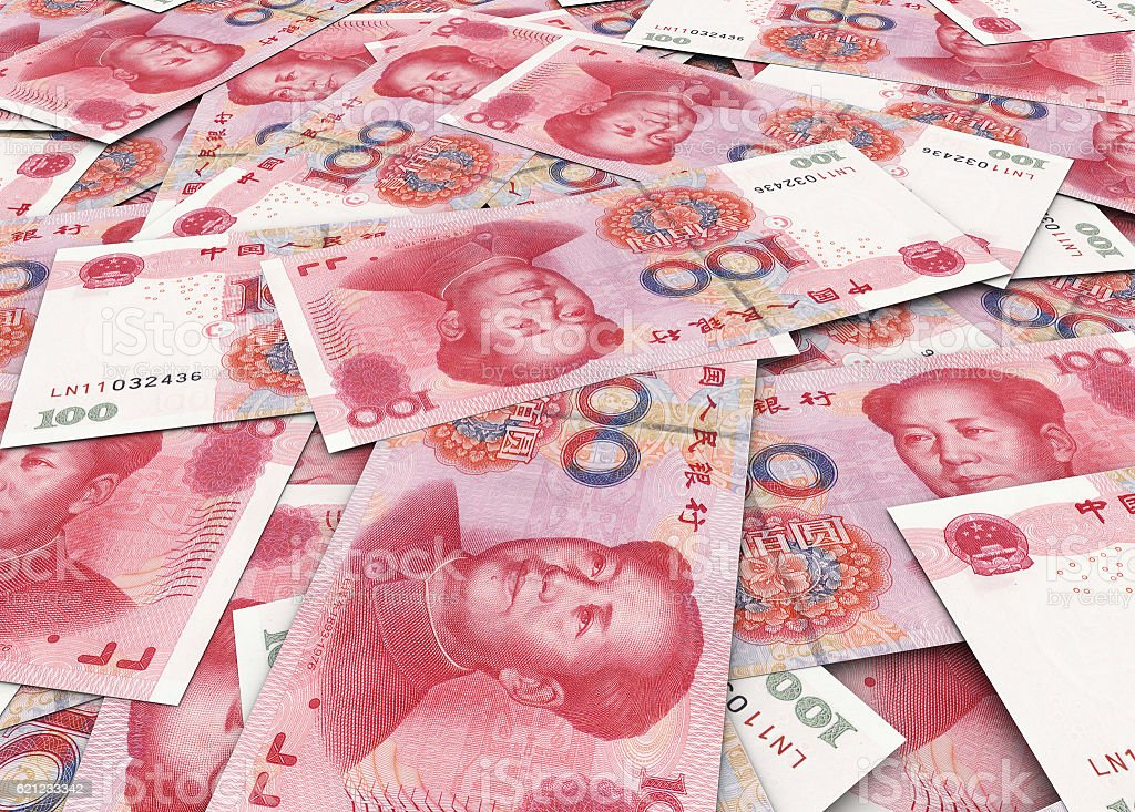 Yuans stock photo