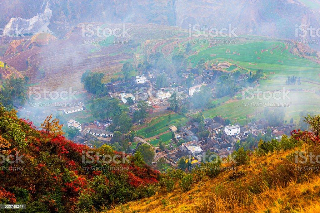 Yuanyang Terraced Fields in Yunnan province,china stock photo