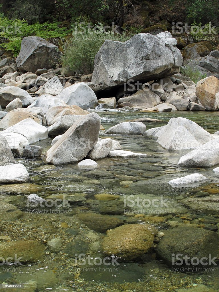 Yuba River Rocks Natural Setting stock photo