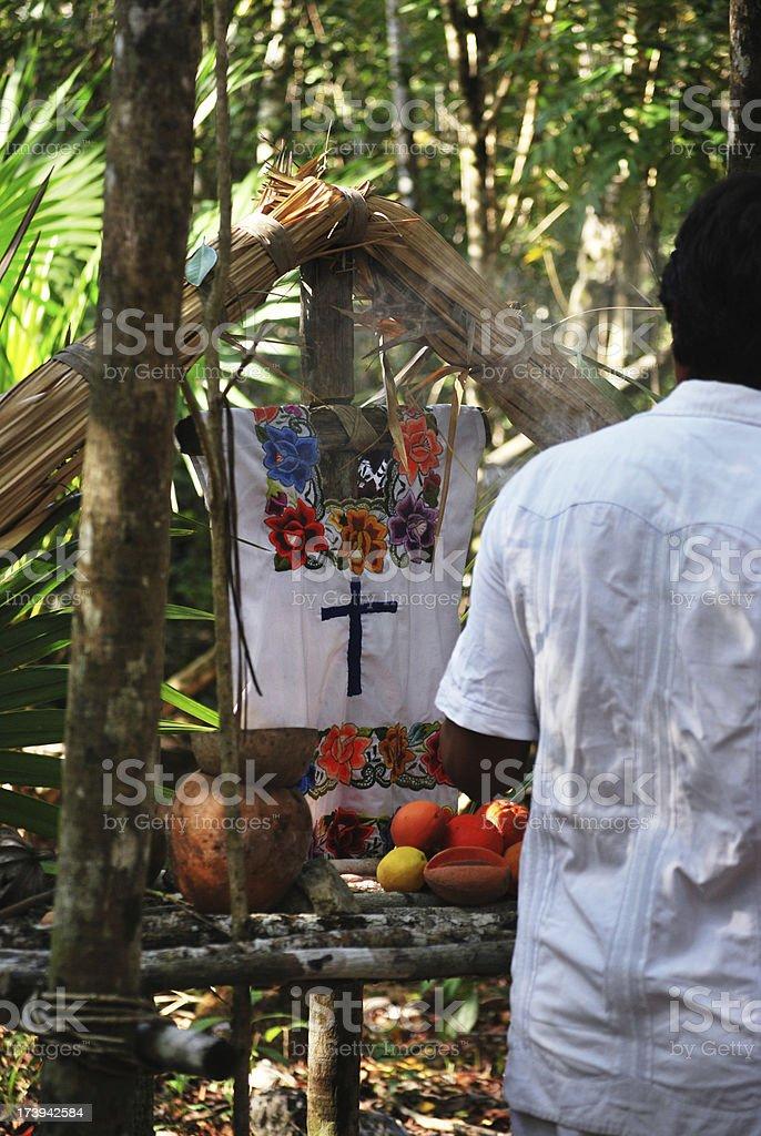 Yucatan - Mayan incense ritual royalty-free stock photo