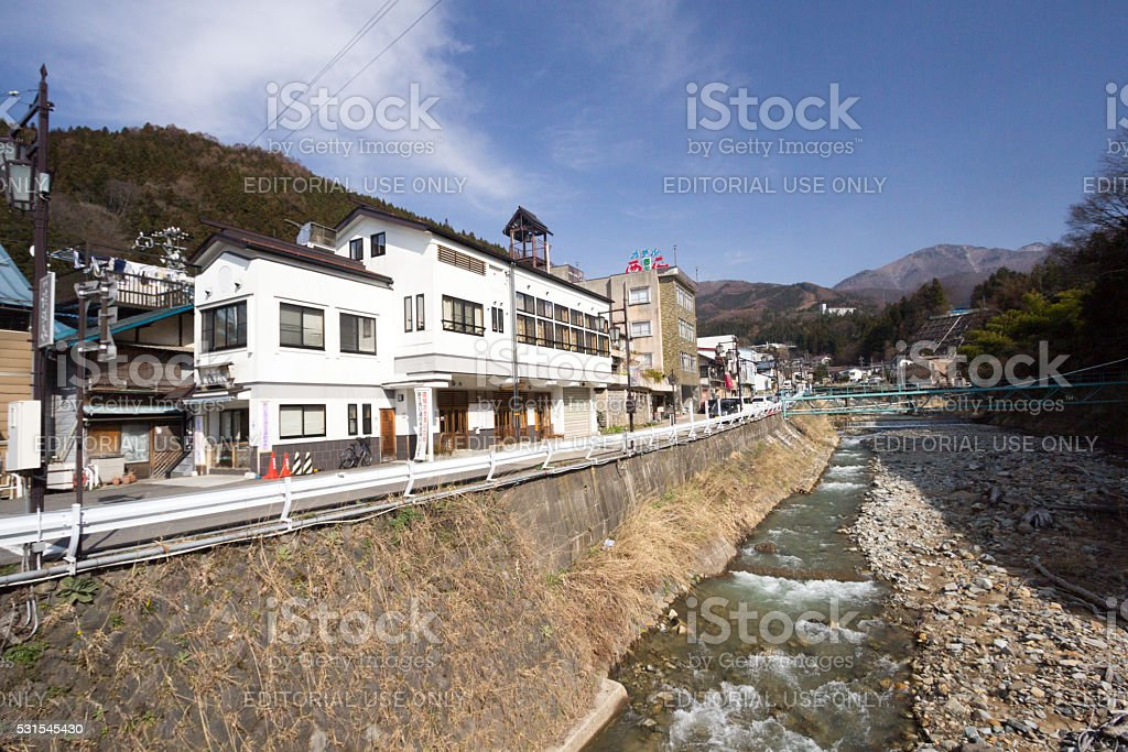 Yudanaka in Nagano Prefecture, Japan stock photo