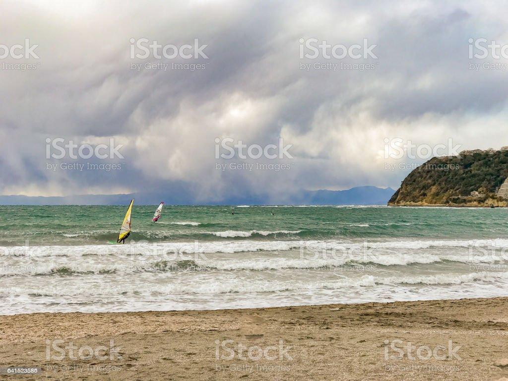 Yuigahama coast of Shonan/Kanagawa Japan stock photo