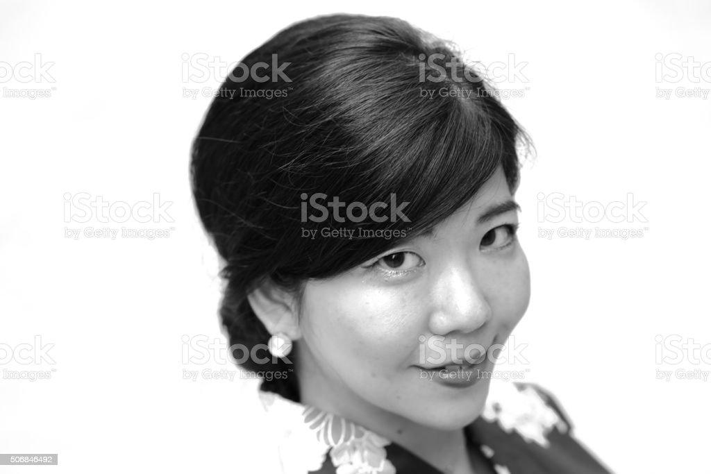 Yukata girl stock photo