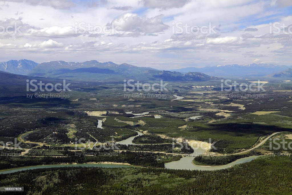 Yukon Aerial Landscape stock photo
