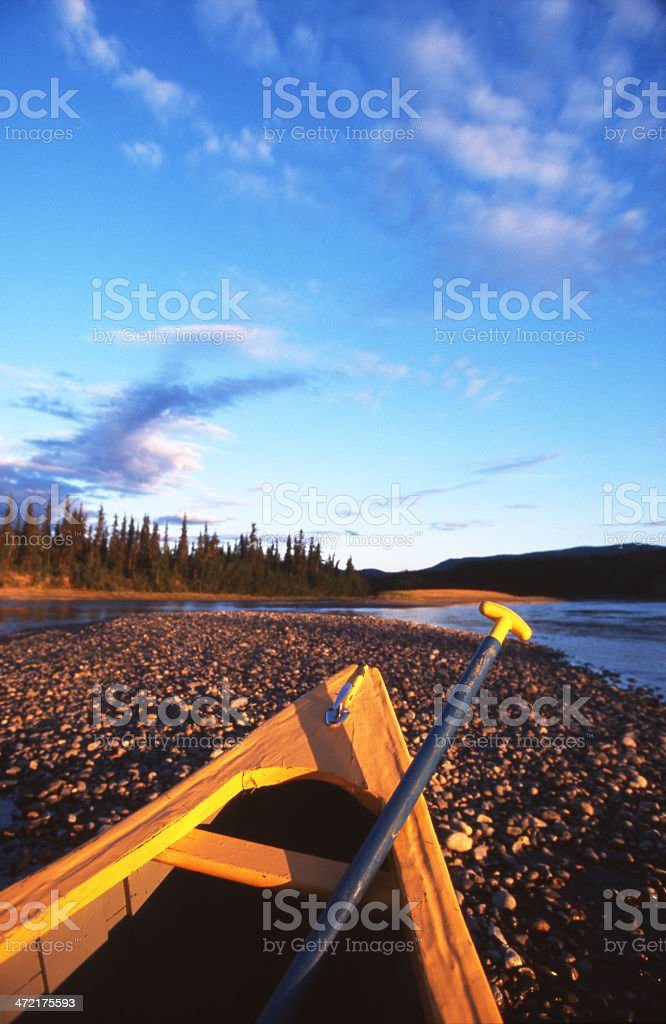 Yukon Canoe Trip stock photo