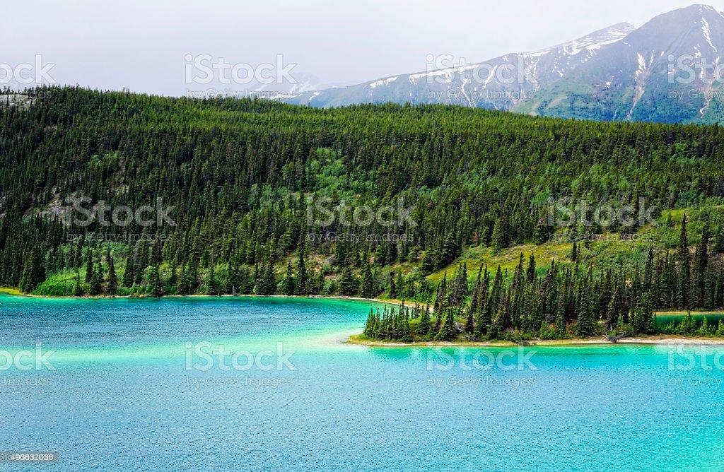 Yukon Emerald Lake stock photo