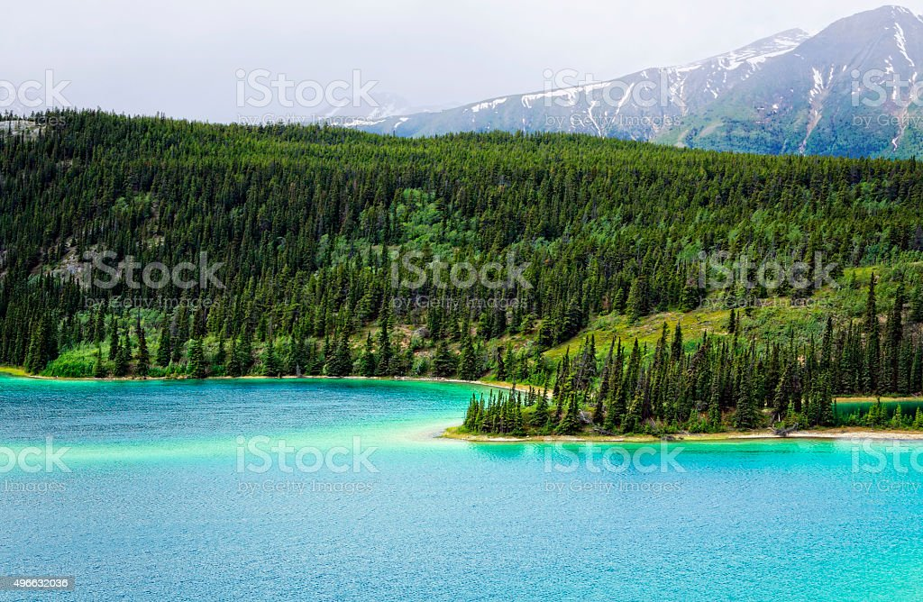 Yukon Emerald Lake stock photo