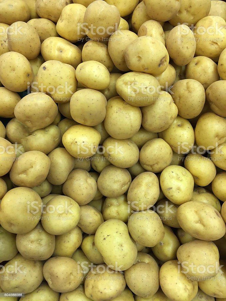Yukon Gold Potatoes in Health Food Market stock photo