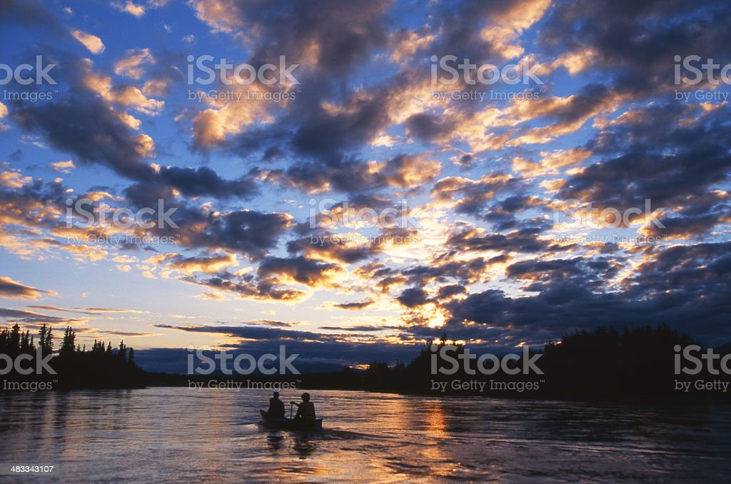 Yukon Midnight Paddle stock photo