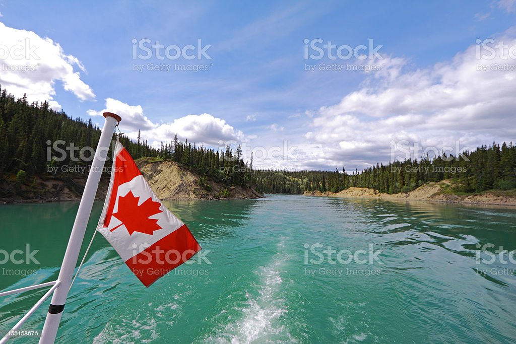 Yukon River Boat Tour stock photo