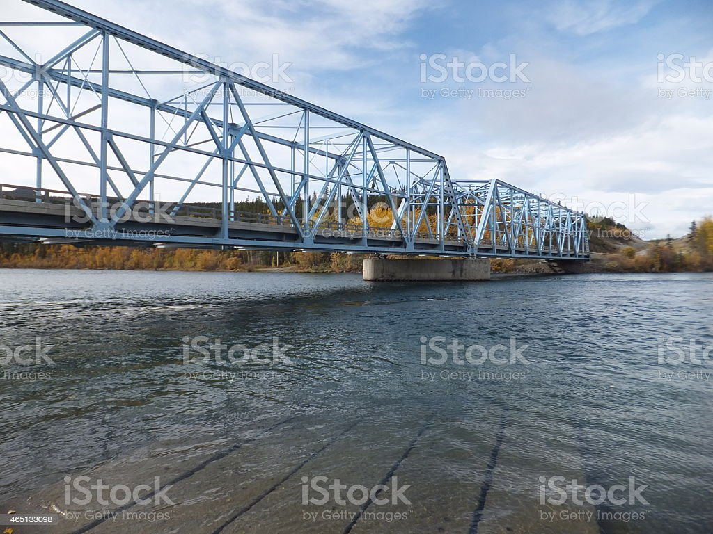 Yukon River Bridge - Alaska Highway stock photo