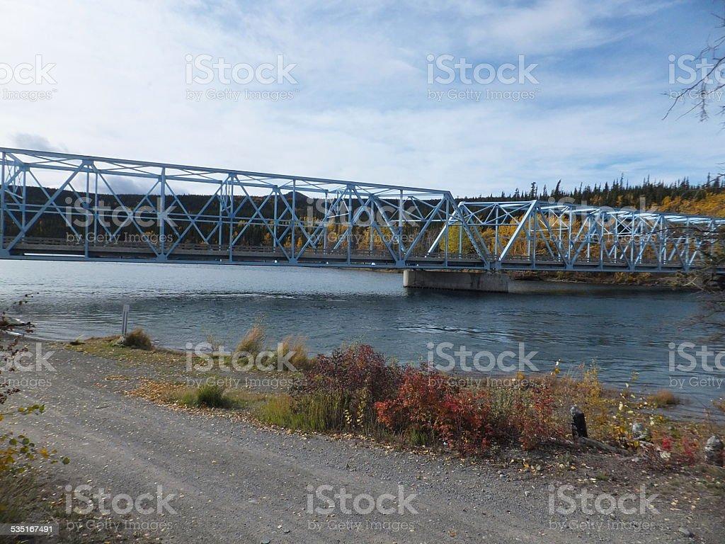 Yukon River Bridge stock photo
