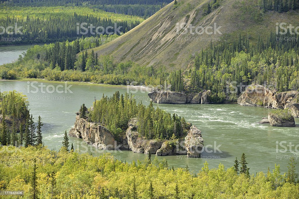 Yukon River Five Fingers stock photo