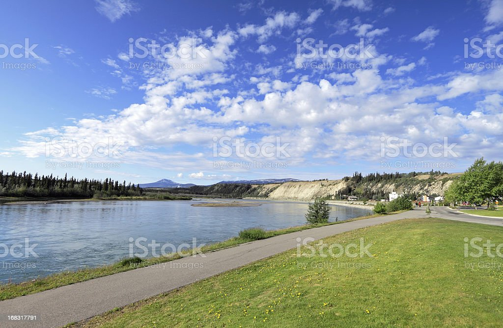 Yukon River stock photo