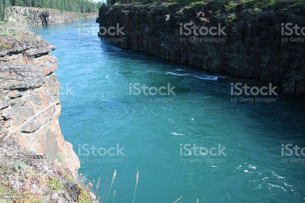 Yukon River - Whitehorse, Yukon stock photo