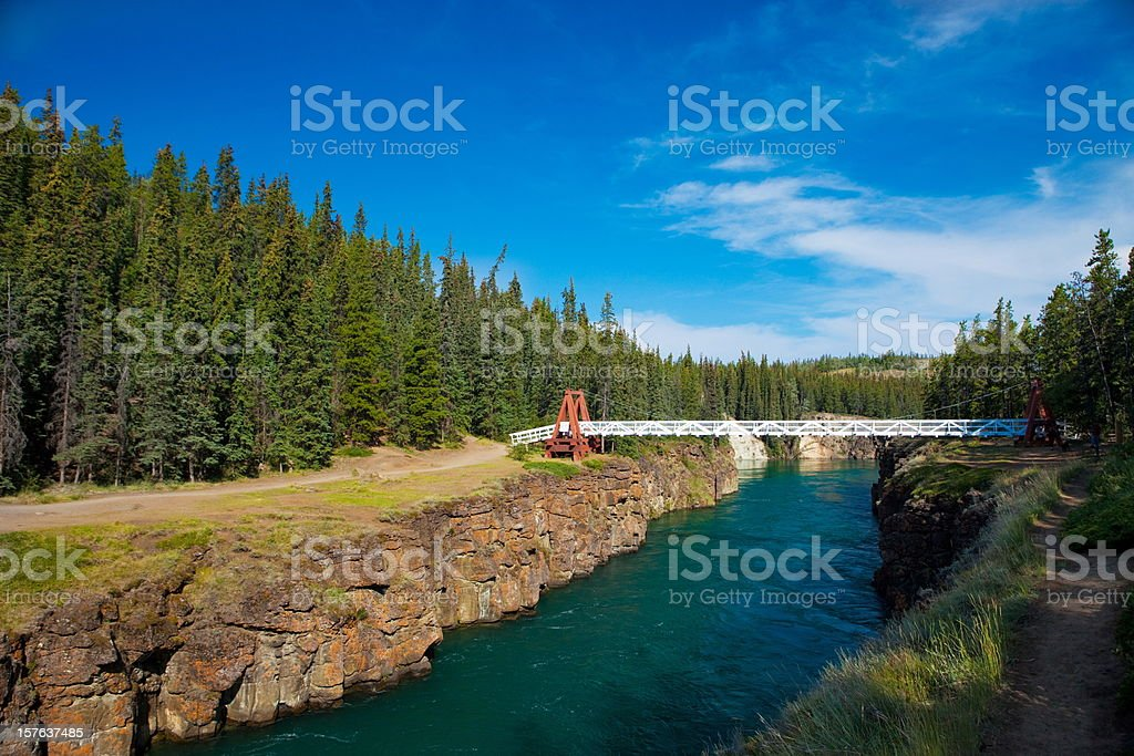 Yukon river,Canada stock photo