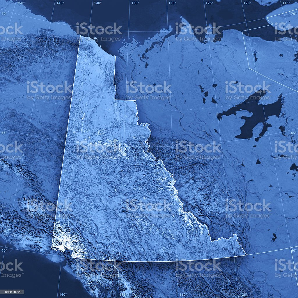 Yukon Topographic Map stock photo