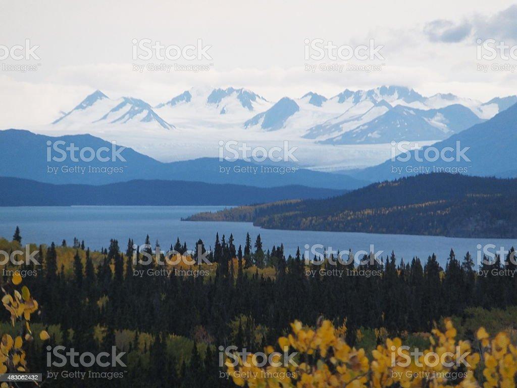 Yukon wilderness landscape stock photo