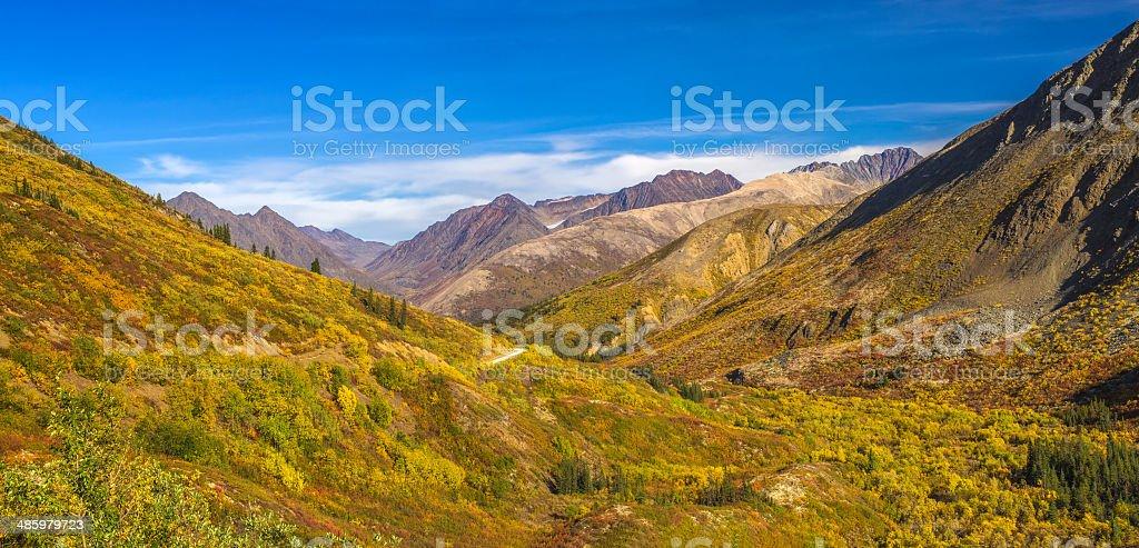 Yukon-Nahanni Road stock photo