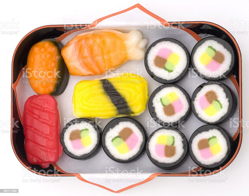 Yum, Candy Sushi royalty-free stock photo