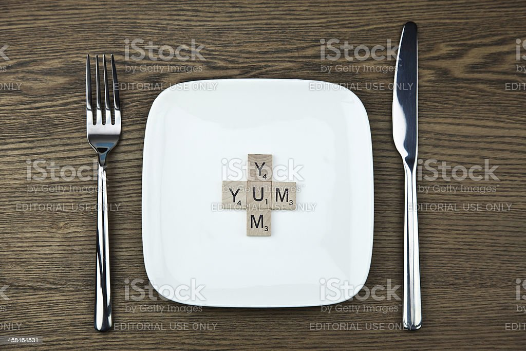Yum on a Plate royalty-free stock photo