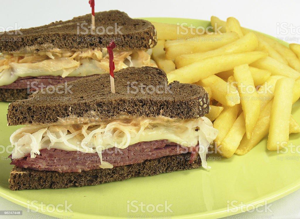 Yum... Reuben Sandwiches royalty-free stock photo