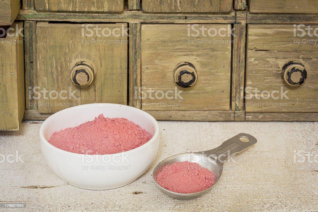 yumberry fruit powder royalty-free stock photo