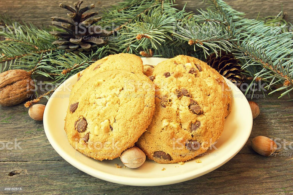 yummy biscuit cookies. christmas snack stock photo