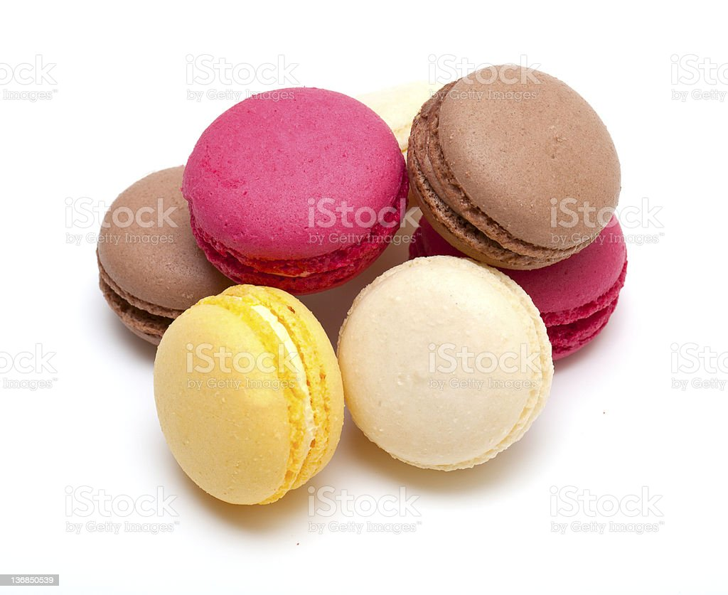 yummy colorful macaroons on a white background royalty-free stock photo