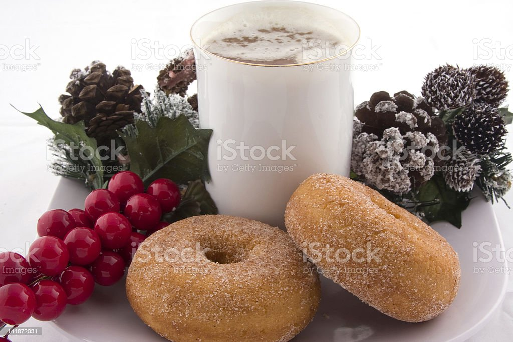 Yummy Donuts and Coffee royalty-free stock photo