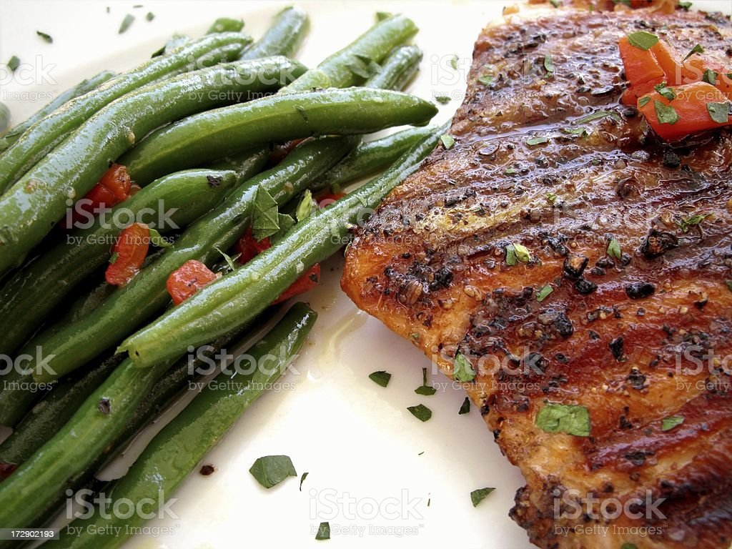Yummy Grilled Salmon royalty-free stock photo