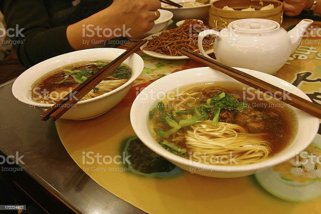 Yummy noodle soup stock photo
