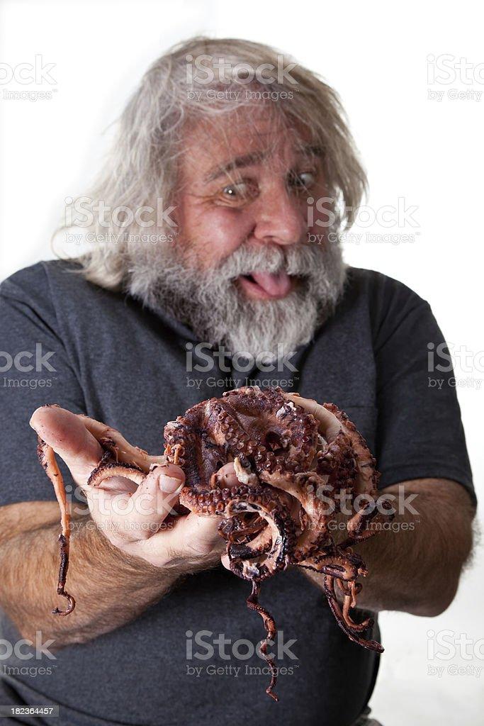 Yummy Octopus royalty-free stock photo
