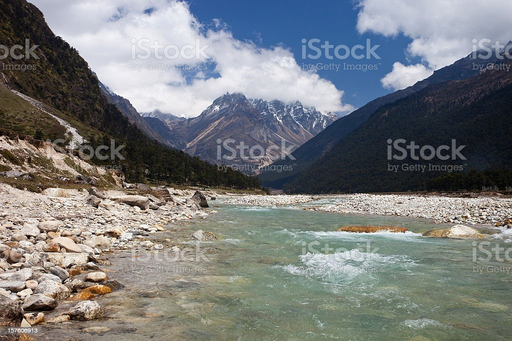 Yumthang Valley In Northern Sikkim, India royalty-free stock photo
