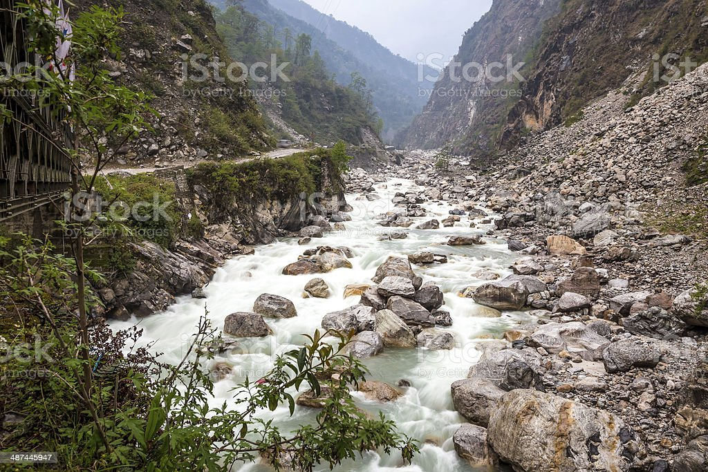 Yumthang Valley In Northern Sikkim, India stock photo