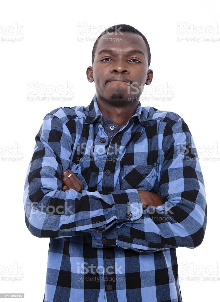 Yung black male royalty-free stock photo