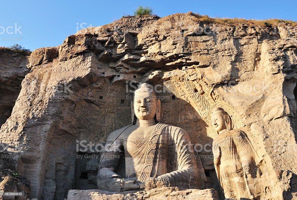 Yungang Grottoes Buddhist caves, China stock photo