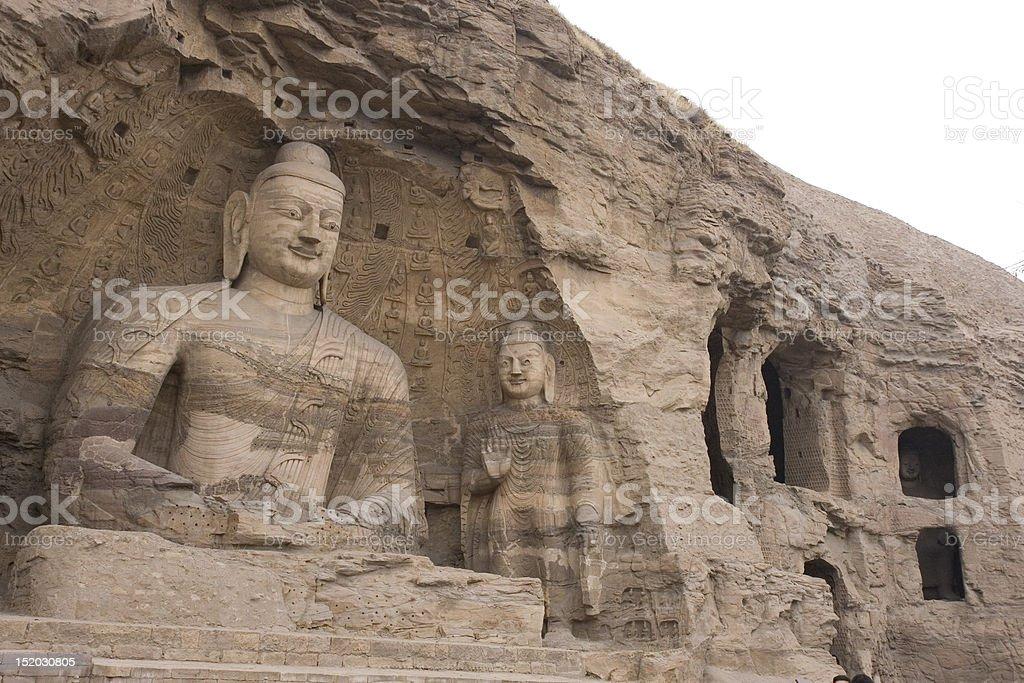 Yungang Grottoes, China stock photo
