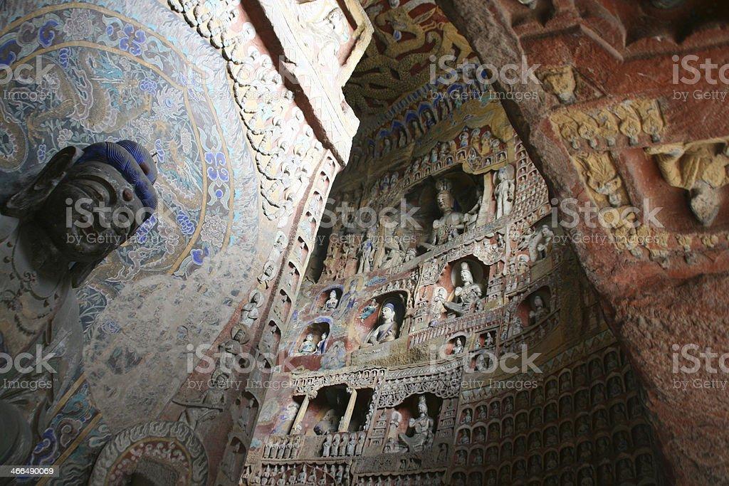 Yungang Grottoes, China. stock photo