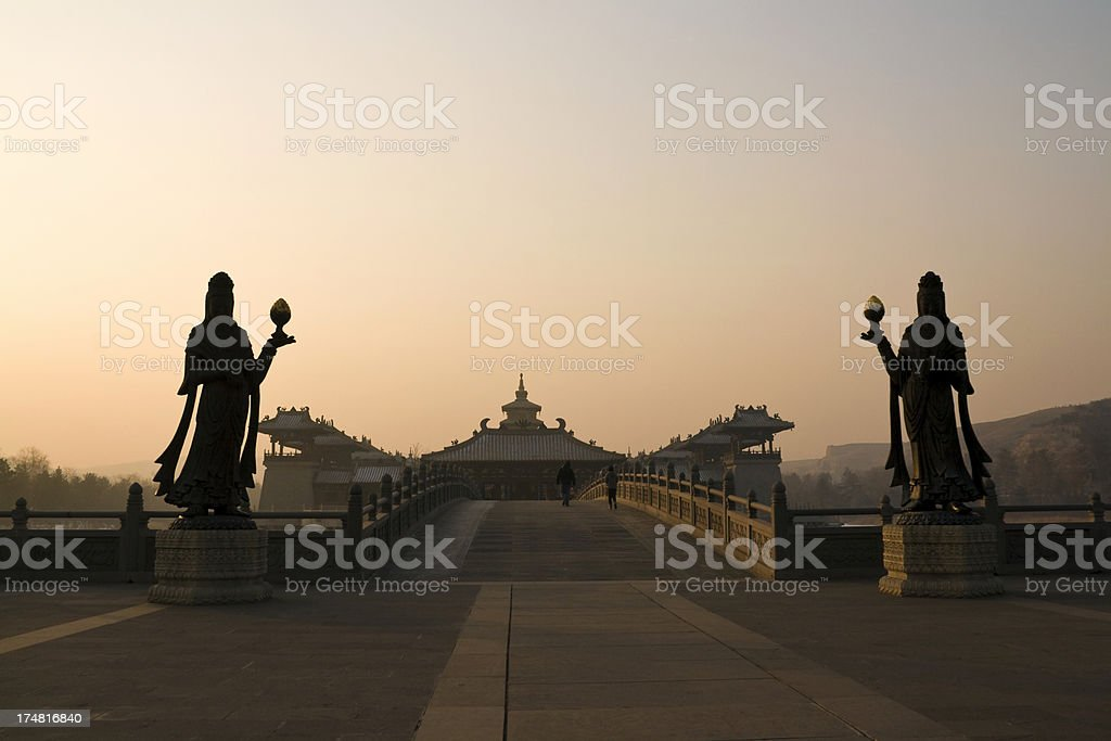 Yungang Grottoes complex - Datong stock photo
