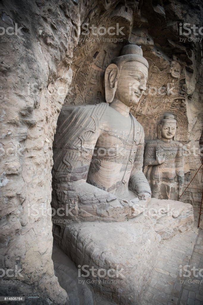 Yungang grottoes Datong China stock photo