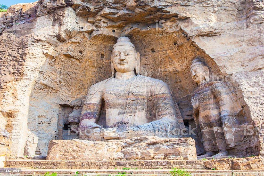 Yungang Grottoes stock photo