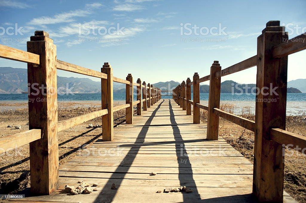 Yunnan, China, Lugu Lake scenery royalty-free stock photo