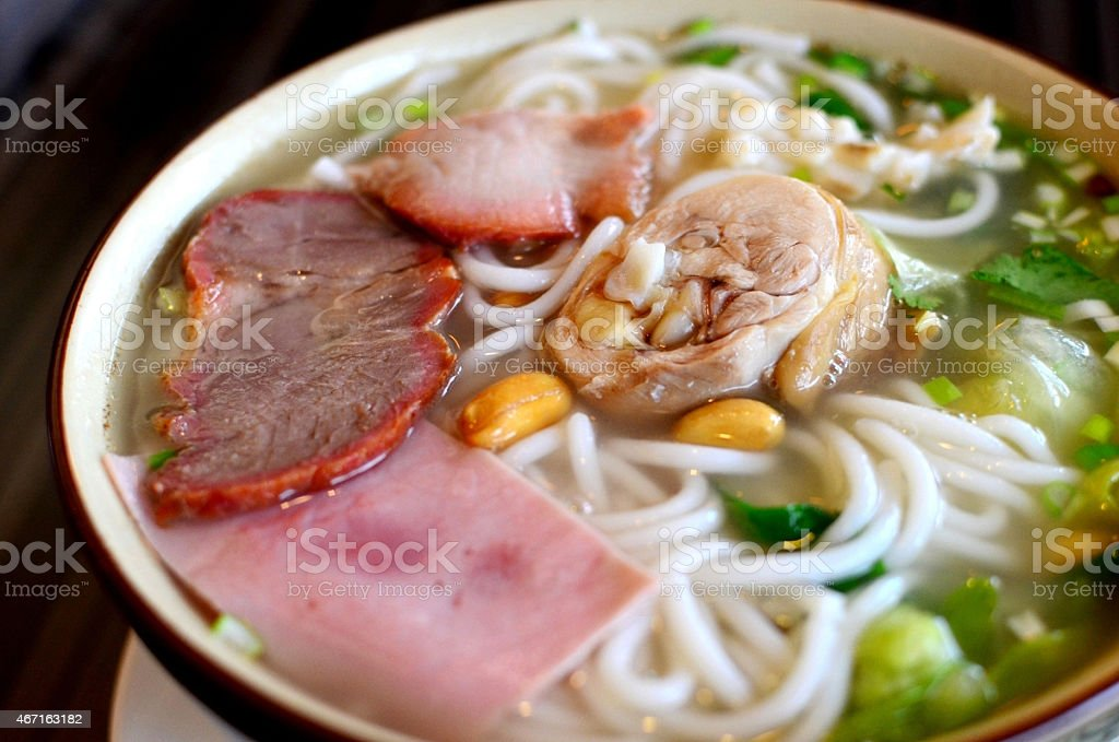 Yunnan rice noodles stock photo