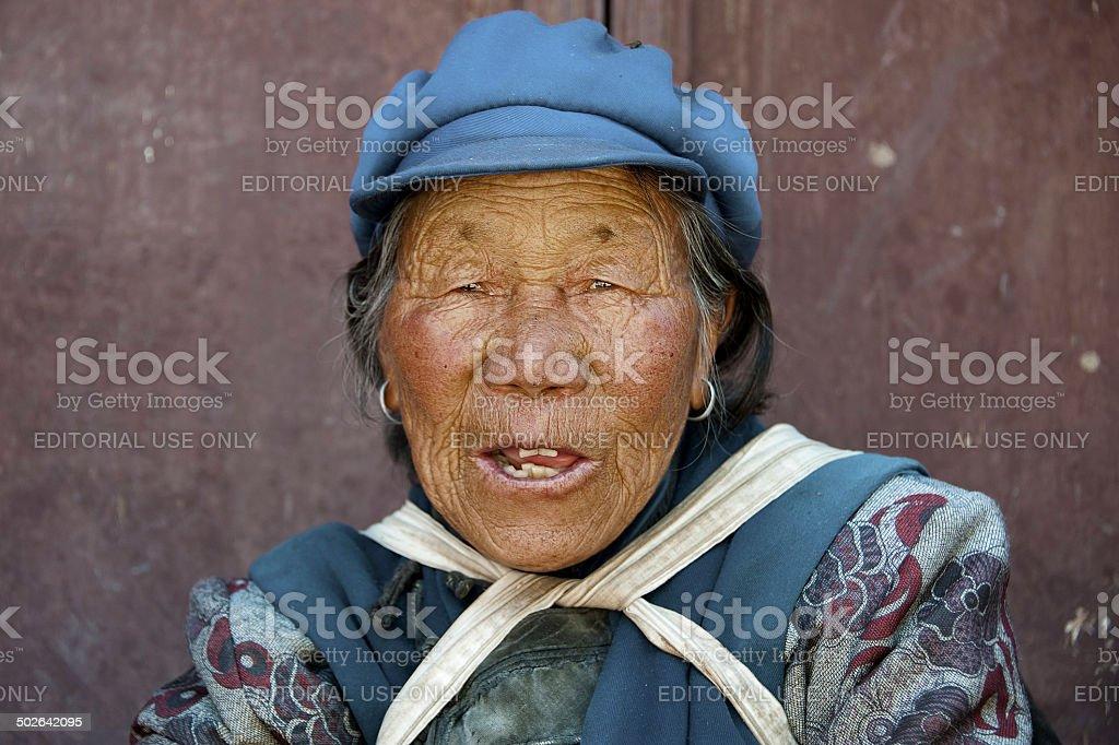 Yunnan's Naxi Woman. stock photo