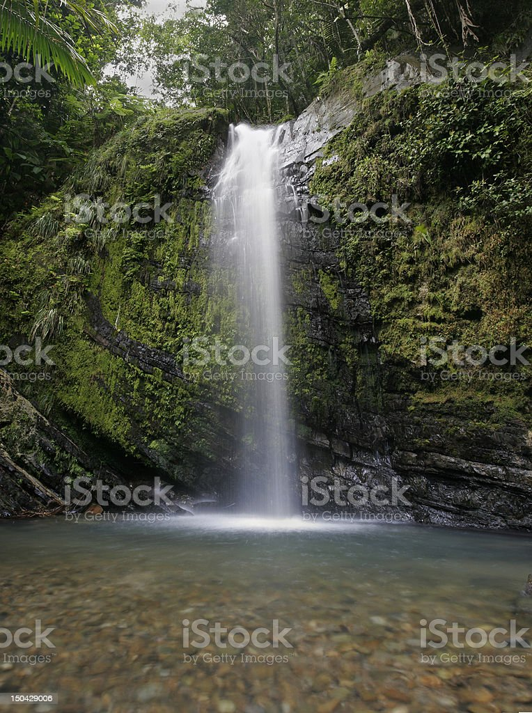 Yunque Waterfall stock photo