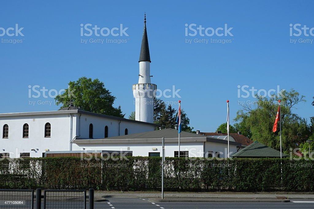Yunus Emre Mosque in Almelo stock photo
