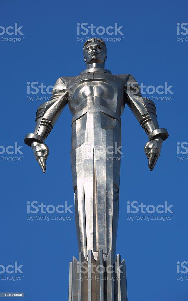 Yuri Gagarin monument stock photo