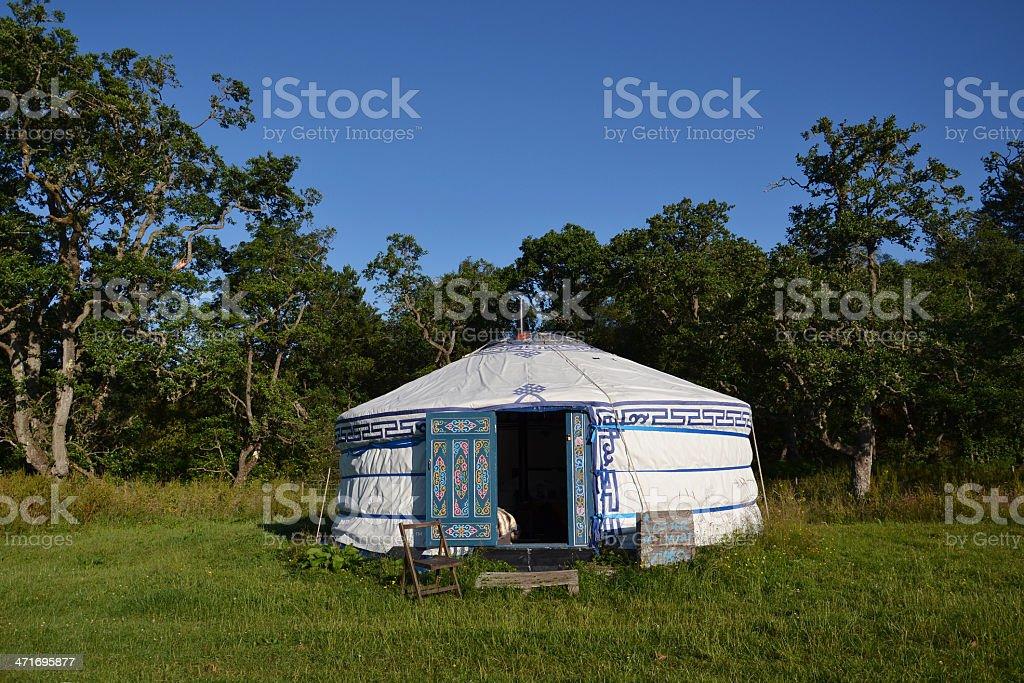 Yurt – a mongolian ger royalty-free stock photo