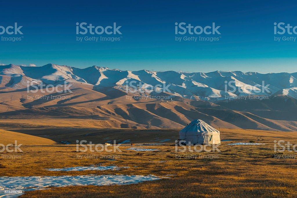 Yurt at the silk road stock photo